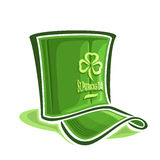 Vector illustration on the theme of creative hat for St. Patrick's Day. Abstract vector illustration on the theme of creative hat for St. Patrick's Day Stock Images