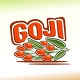 Vector illustration on the theme of goji Royalty Free Stock Photos
