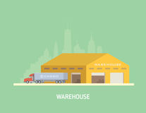Vector illustration on the theme of Logistics Royalty Free Stock Photo