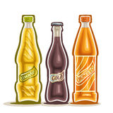 Vector illustration on the theme of the logo for carbonated drinks Royalty Free Stock Images