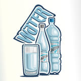 Vector illustration on the theme of the logo for drinking water Royalty Free Stock Photography