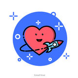 Vector illustration with the theme of love Stock Photos