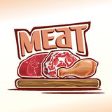 Vector illustration on the theme of meat Royalty Free Stock Photo