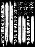 Vector illustration on the theme in New York City freedom. Styli. Zed American flag. Grunge background. Typography, t-shirt graphics, print, poster, banner Stock Photo