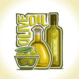Vector illustration on the theme of olive oil Stock Photo