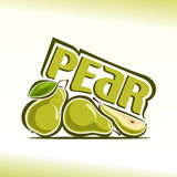 Vector illustration on the theme of pear Stock Photo