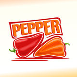 Vector illustration on the theme of  pepper Stock Photography