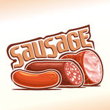 Vector illustration on the theme of sausage Stock Images