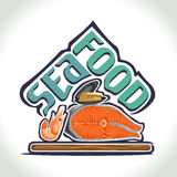 Vector illustration on the theme of seafood Stock Images
