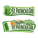 Vector illustration on the theme of St. Patrick's Day Stock Photos