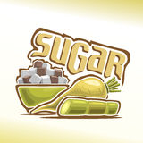 Vector illustration on the theme of sugar Stock Image