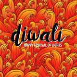 Vector illustration on the theme of the traditional celebration happy diwali. Deepavali light and fire festival. Elements for design Stock Photography