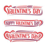 Vector illustration on the theme of Valentine's day Stock Image
