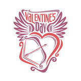 Vector illustration on the theme of Valentine's day Stock Photos