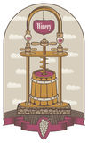 Vector illustration on the theme of the winery vector illustration