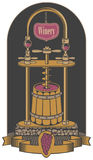 Vector illustration on the theme of the winery royalty free illustration