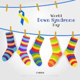 World Down Syndrome Day. Vector Illustration on the theme World Down Syndrome Day Stock Image