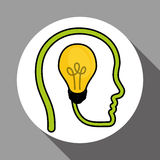 Vector illustration of Think green , editable icon Stock Photography