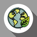 Vector illustration of Think green , editable icon Stock Images