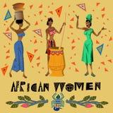 African women. Vector illustration three african women Stock Image