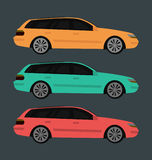 Vector illustration with three colors variations. Stock Images