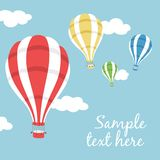 Vector illustration of three hot air balloons Stock Photo
