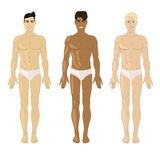 Vector illustration with three young man Stock Image