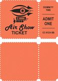 Aero show ticket. Vector illustration of a ticket countermark to visit an aviation festival festival show with a detachable coupon Stock Image