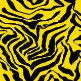 Vector illustration tiger print seamless pattern. Yellow hand drawn background. Vector illustration tiger print seamless pattern. Yellow hand drawn background royalty free illustration