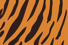 Vector illustration of tiger stripe pattern. Royalty Free Stock Images