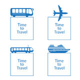 Vector illustration time to travel concept Royalty Free Stock Photo