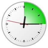Timer with 15 fifteen minutes. Vector illustration of a timer with 15 fifteen minutes vector illustration