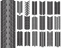 Vector illustration of tires. On white Stock Photos