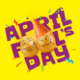 Vector illustration to April Fools Day. Royalty Free Stock Photography