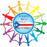 Help Puerto Rico 2. Vector Illustration to Help Puerto Rico with a bandage to heal. Hurrucane Irma and Hurricane Maria hit Puerto Rico in September 2017 royalty free illustration