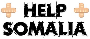 Help Somalia Text 4 Stock Photography