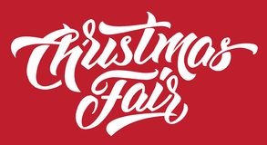 Christmas Fair Modern Hand lettering. vector illustration