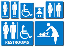 Vector illustration toilette sign Stock Photo