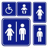 Vector illustration toilette sign Royalty Free Stock Image