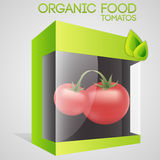 Vector illustration of tomatoes in packaged Stock Photos