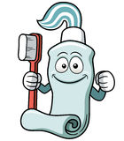 Toothbrush and toothpaste cartoon Stock Photography