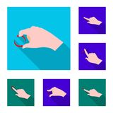 Vector design of touchscreen and hand sign. Collection of touchscreen and touch stock symbol for web. Vector illustration of touchscreen and hand logo. Set of Royalty Free Illustration