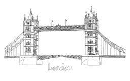 Vector illustration of Tower bridge, London Stock Image