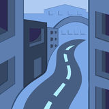 Vector illustration of town Stock Images
