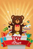 Toy Drive Brochure Illustration royalty free stock images