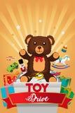 Toy Drive Brochure Illustration royalty free illustration