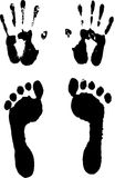 Vector illustration of track/footstep. Abstract vector illustration of track/footstep Stock Images