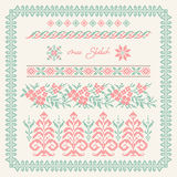 Vector illustration of traditional embroidered pattern Royalty Free Stock Photo