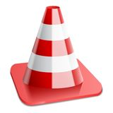 Vector illustration of traffic cone Stock Photos