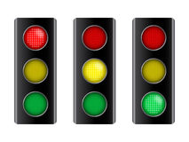 Vector illustration of traffic sign signal Stock Photography